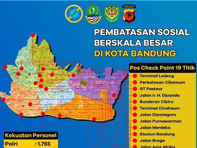 Lokasi dan Jadwal Pos Check Point Polda Jabar Saat PSBB Bandung Raya
