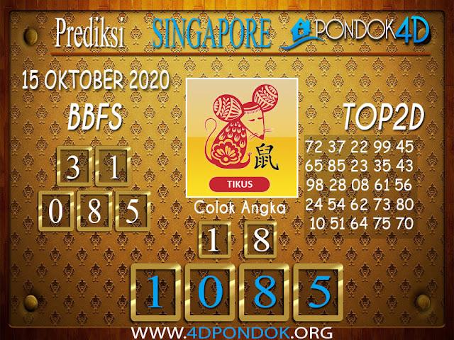 Prediksi Togel SINGAPORE PONDOK4D 15OKTOBER 2020