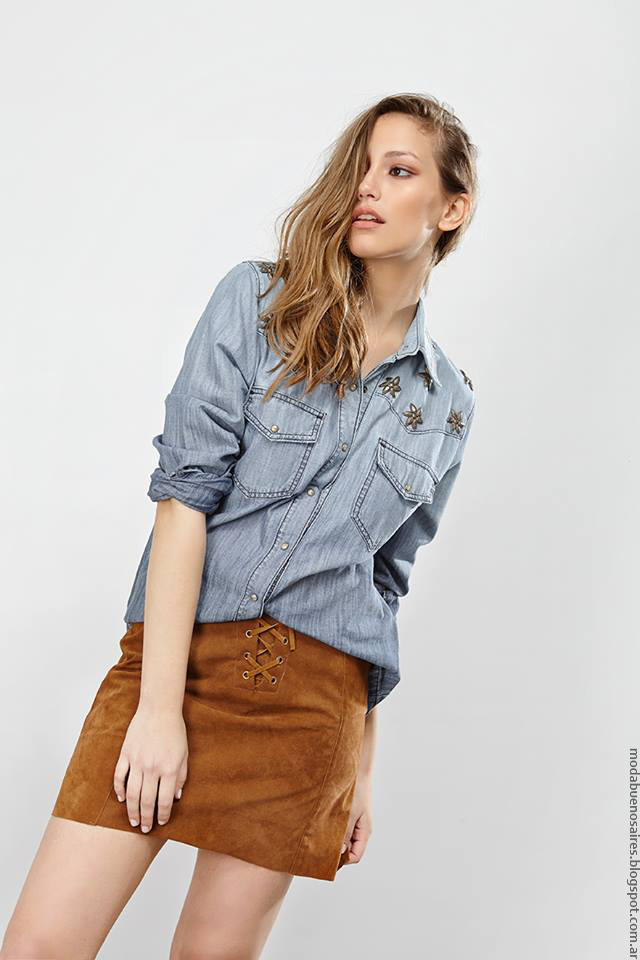 Moda verano 2017 ropa de moda 2017 camisas de mujer.