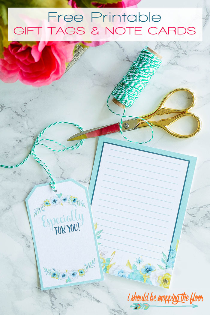 Flooring Gift Certificate : I should be mopping the floor free printable floral gift tags
