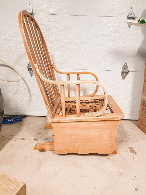 Refurbishing an old rocking chair | fixer upper