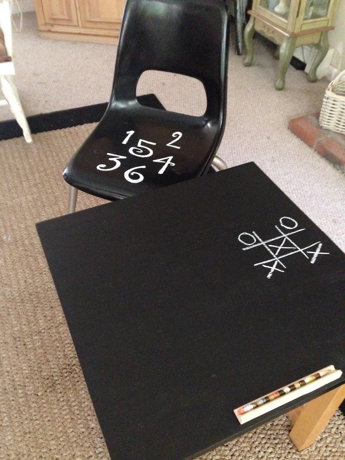 Chalkboard Desk & Chair