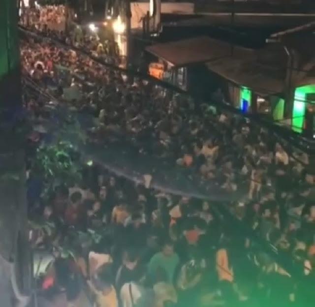 Covid-19: Mesmo com proibição de festas de carnaval, aglomerações são registradas em Natal e Pipa
