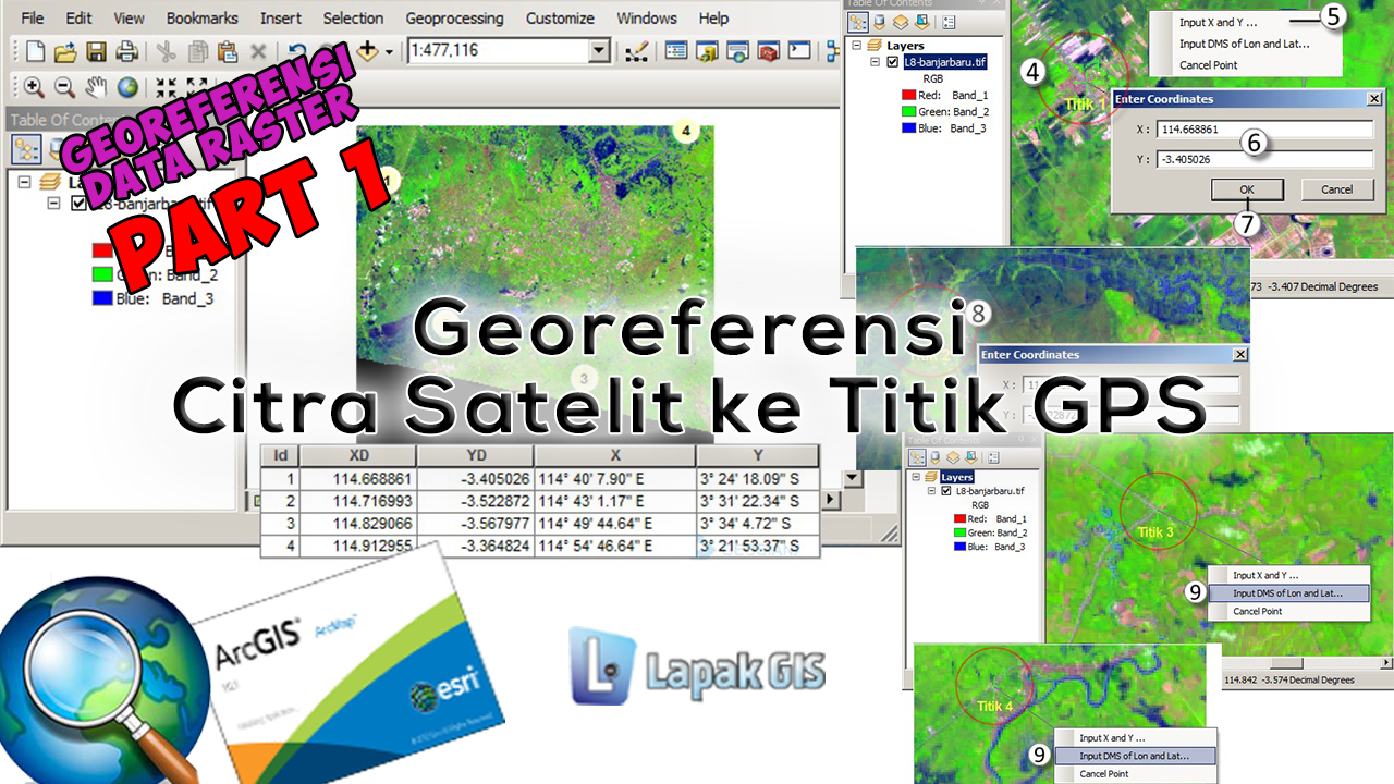 Tutorial Georeferensi Citra Satelit ke Titik GPS