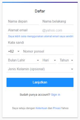 Cara Membuat Email Baru YAHOO Indonesia Terbaru 28