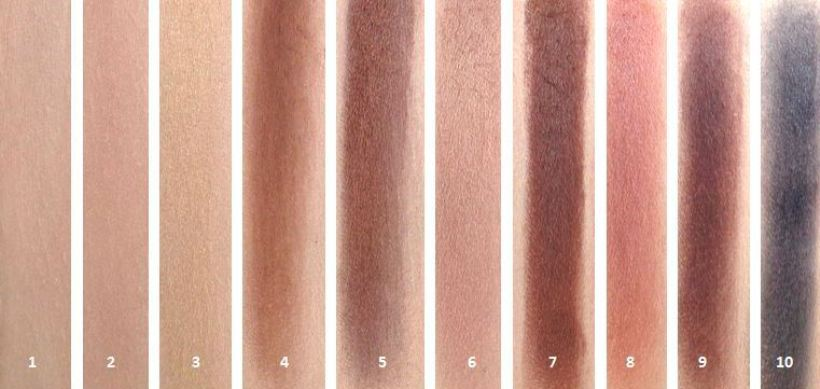 ZOEVA NATURALLY YOURS swatches
