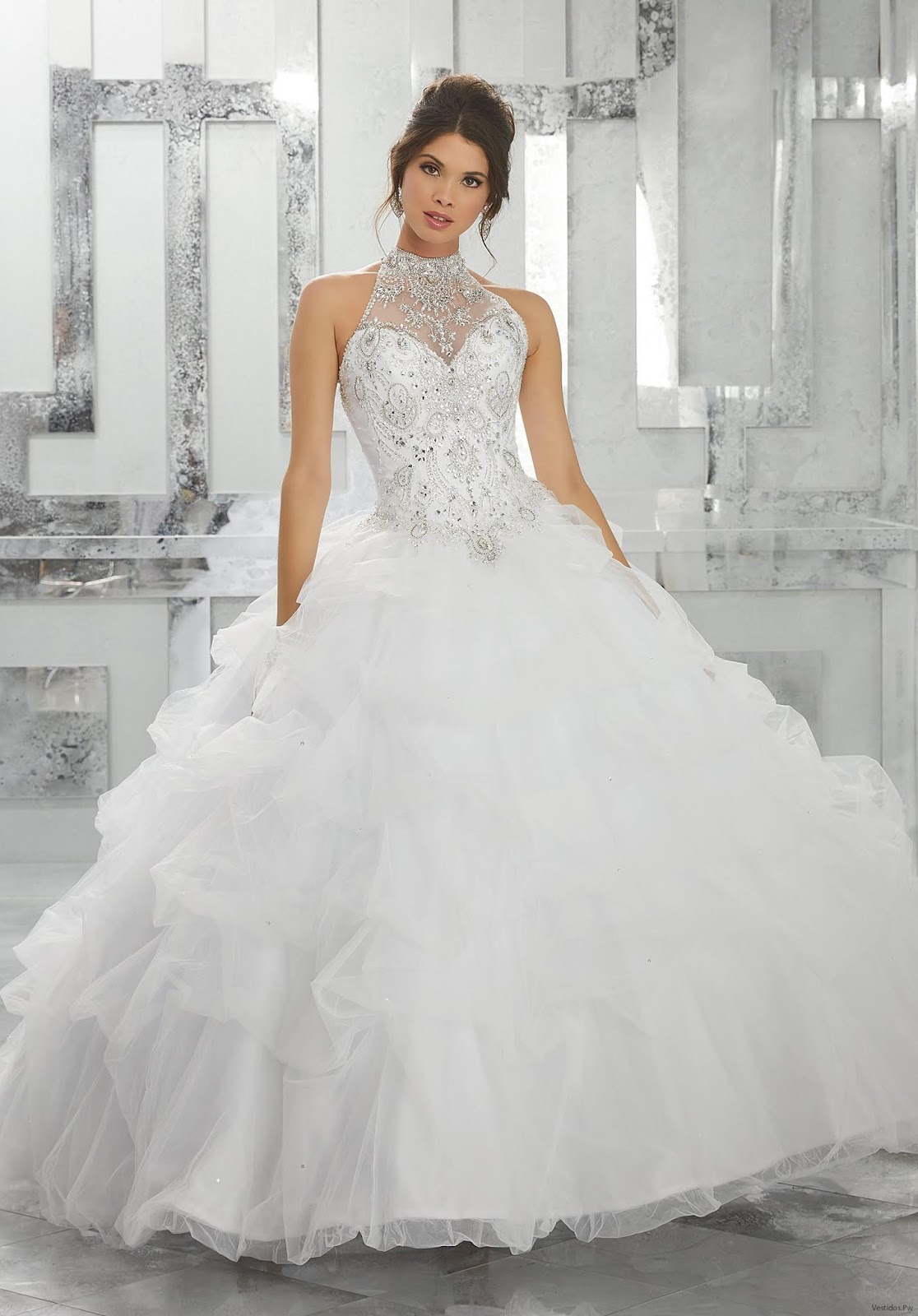 Más De 22 Vestidos De Xv Años Color Blanco Moda 2019