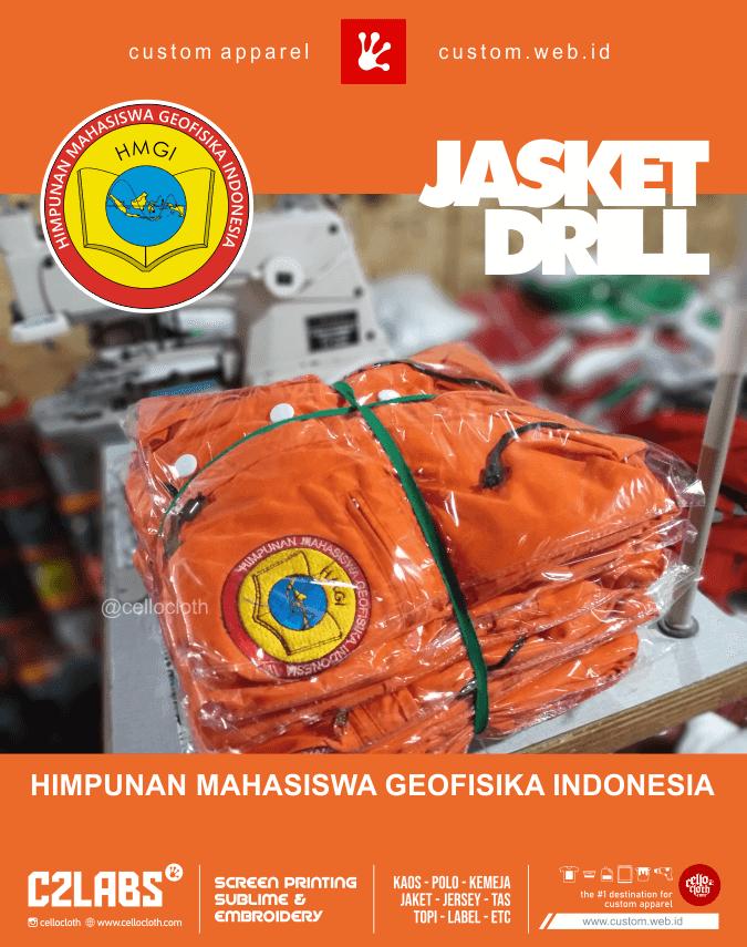 Jasket Drill Bordir GMGI Himpunan Mahasiswa Geofisika Indonesia