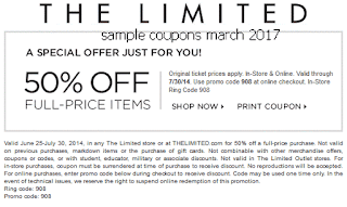 The Limited coupons march