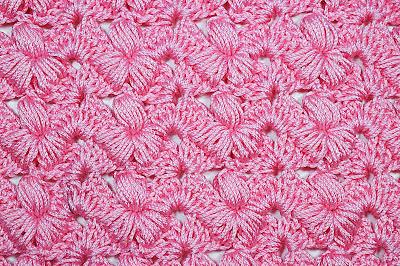 5 - Crochet Imagen Puntada preciosa con punto puff y abanicos por Majovel Crochet
