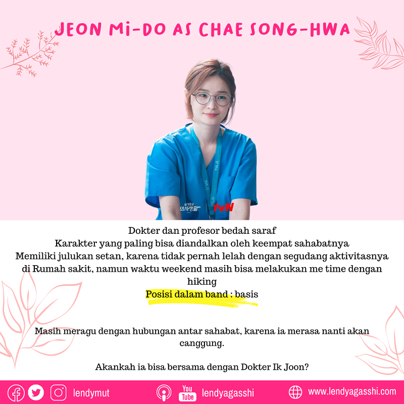 Jeon Mi-Do as Chae Song-Hwa dalam Drama Hospital Playlist 2 cast