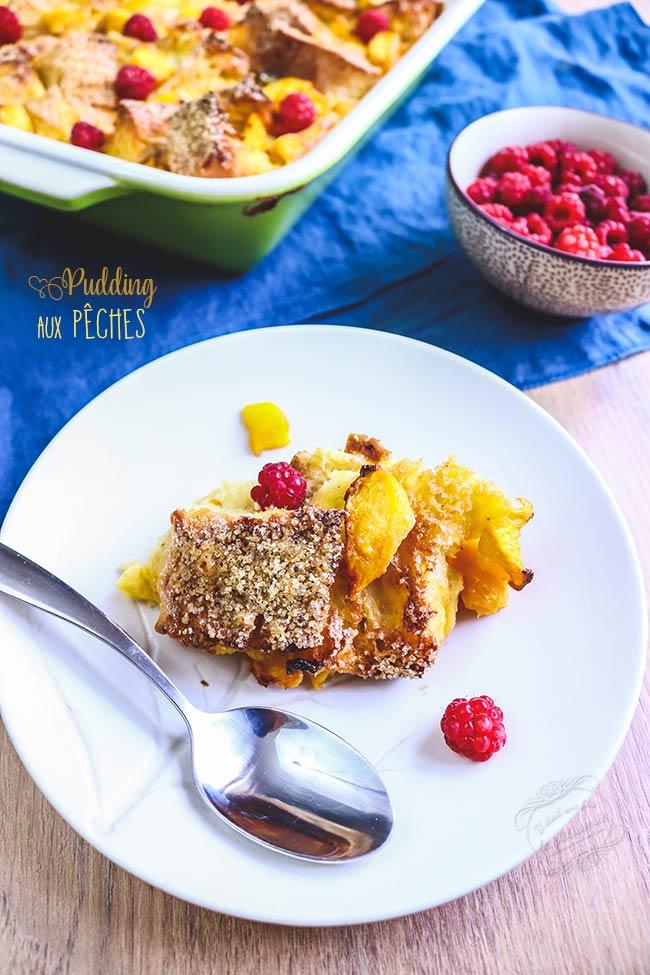 recette pudding peche