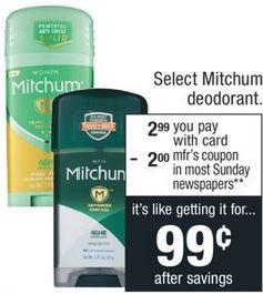 FREE Mitchum Deodorant CVS Deal 4/5-4/11