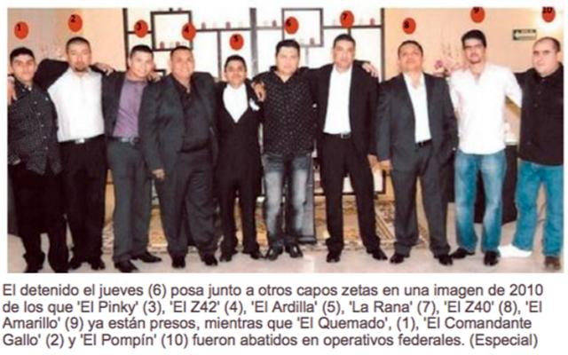 """La foto """"Zeta"""" del 2010; 10 asesinos, Z-40,Z-42,Z-43, El Ardilla y puro """"peso pesado"""""""