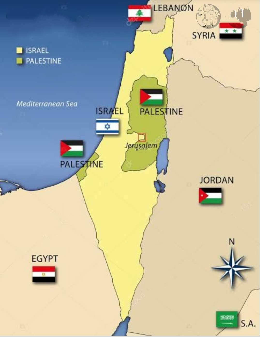 इजराइल और फिलिस्तीन का संघर्ष, भाग 1 (conflict between Israel and  Palestine, part 1)