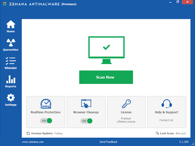 Screenshot Zemana Anti-Malware Premium 3.1.395 Full Version