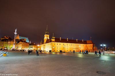 Zamek Królewski na Starym Mieście; z lewej kolumna Zygmunta