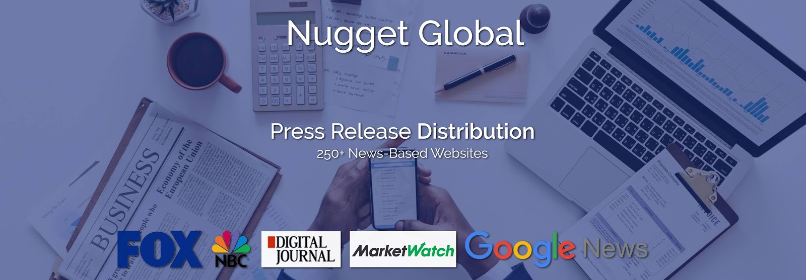 Distribute your press release to 250+ news-based websites, including MarketWatch, FOX, NBC, Digital Journal and many more.