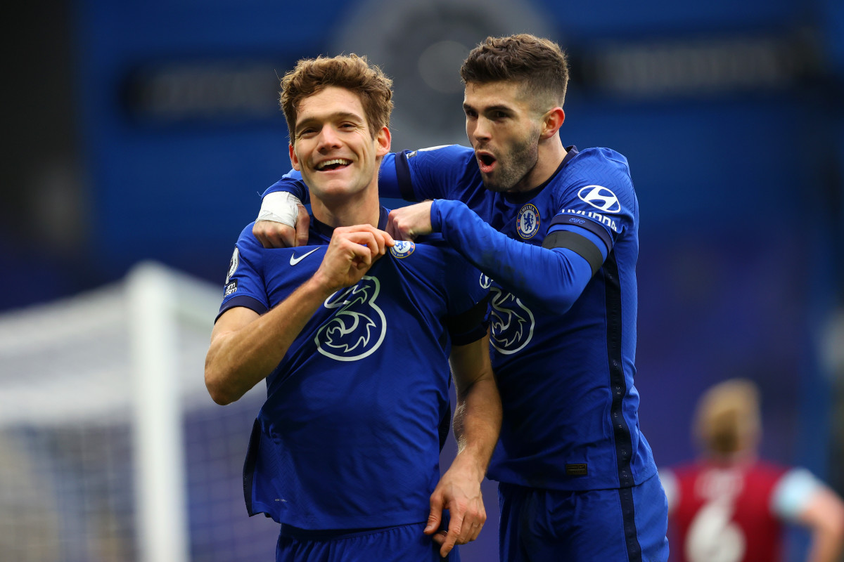Marcos Alonso scored a wonderful volley against Burnley which is an early contender for goal of the season