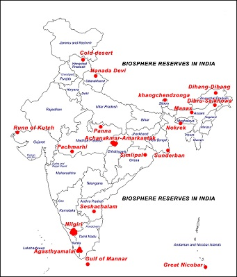 LIST OF BIOSPHERE RESERVES IN INDIA