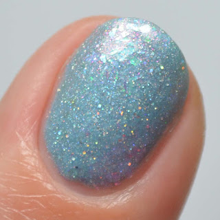 sky blue holo nail polish