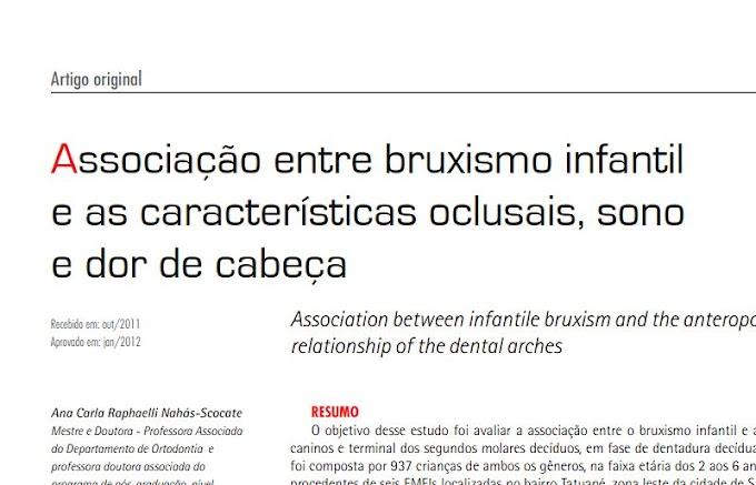 PDF: Associação entre Bruxismo Infantil e as características oclusais, sono e dor de cabeça