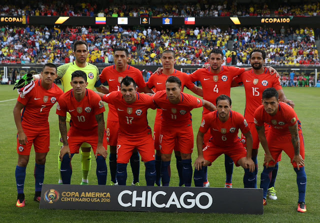 Formación de Chile ante Colombia, Copa América Centenario, 22 de junio de 2016