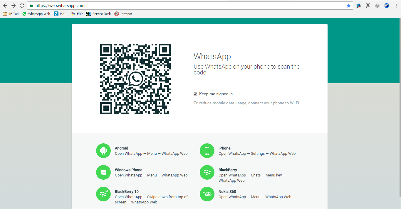 Jalankan browser agan kemudian akses ke web whatshapp di web whatshapp com berikut tampilannya