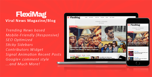 FlexiMag - Viral Blogger News Magazine Blogger Templates