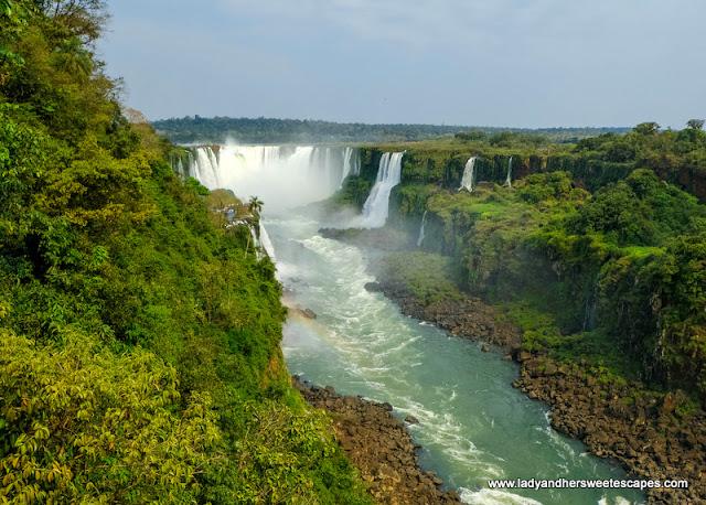 Rainbow in Iguazu Falls Brazil