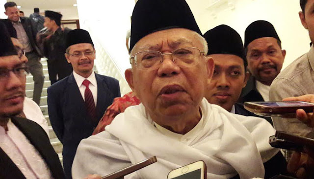 KH Ma'ruf Amin di Masjid Az-Zikra: Saya Tidak Berani Ngajak, Kalau Bisa ya Dukungannya