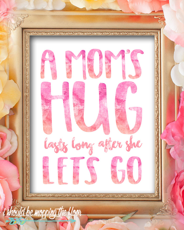 Download these eight Watercolor Mother's Day Printables to give or decorate. Beautiful 8x10 prints sure to bring a smile to any mom's face!