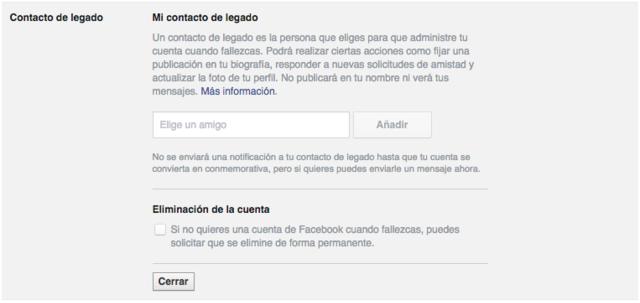 Agregar amigo para legado en Facebook - MasFB