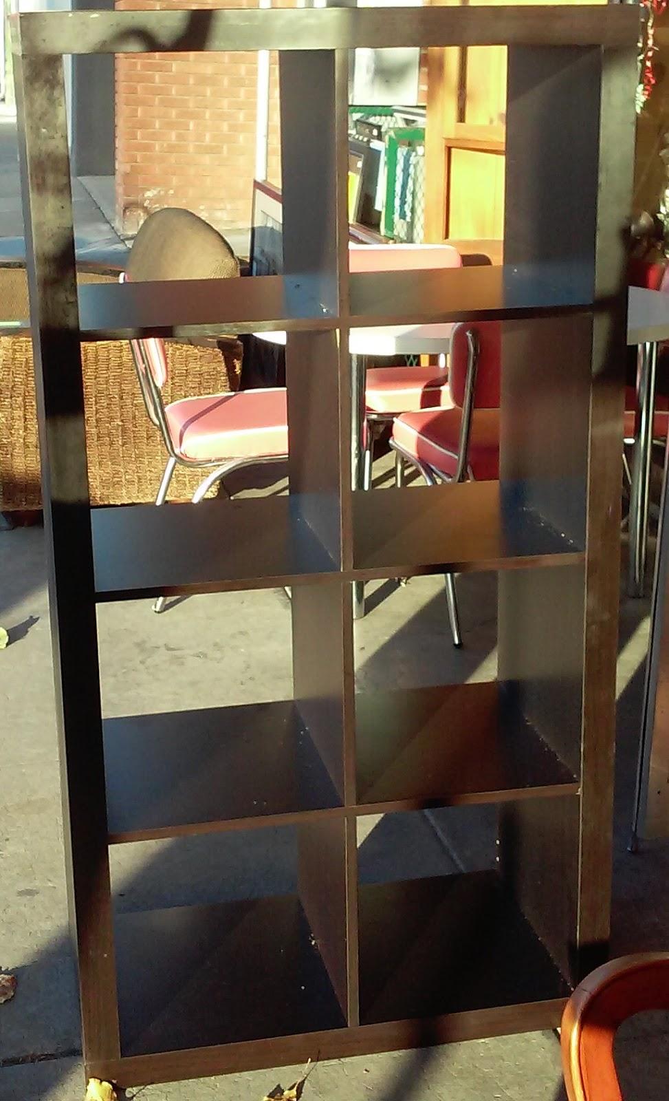 uhuru furniture collectibles sold black 8 cube storage unit 60. Black Bedroom Furniture Sets. Home Design Ideas