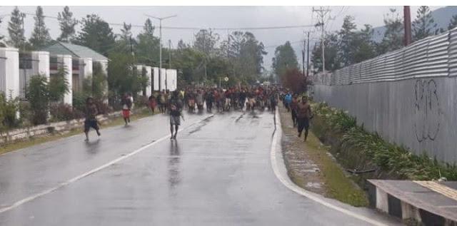 5 Unit Bangunan Rusak, 2 Honai Dibakar di Wamena