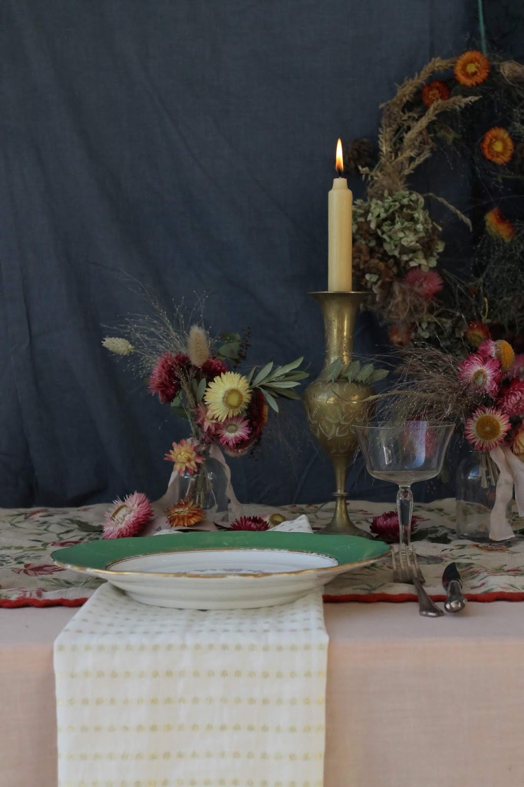 Styling with Strawflowers