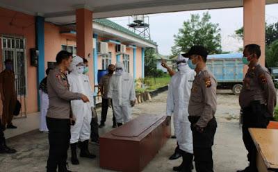 Polres Muaro Jambi Bersama Instansi Terkait Lain nya,Laksanakan Kegiatan Simulasi Penanganan Dan Pemakaman Jenazah Pasien Covid-19