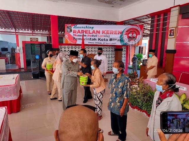 Tingkatkan Asupan Gizi Masyarakat, Walikota Blitar Launching Program Ransum Peduli Lansia