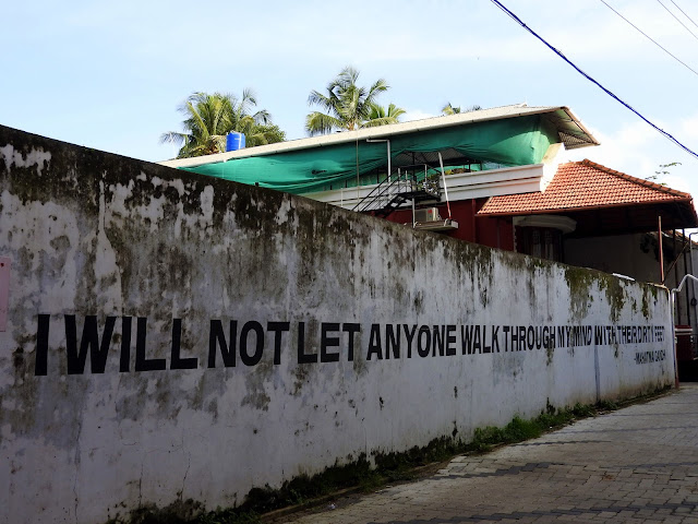 When the love of walking meets the love for quotes | Kochi (Kerala) June 2016