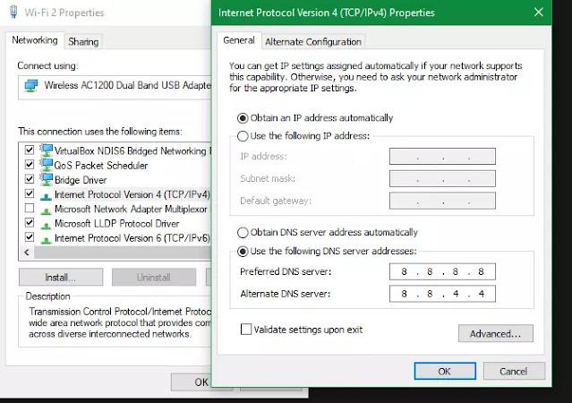 Windows 10 Cambiar la configuración de DNS