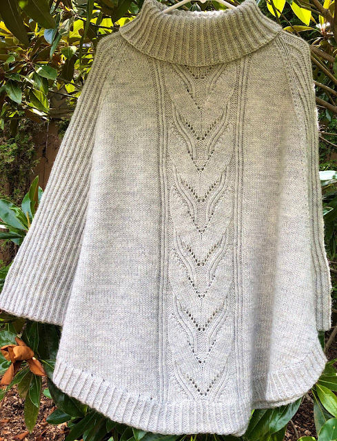 Grey swoncho knitted with DROPS Karisma