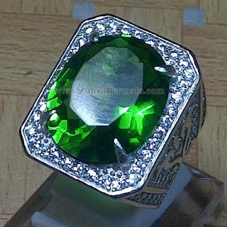 Cincin Batu Permata Green Tektite - ZP 915