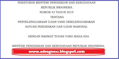 Download Permendikbud Nomor 43 Tahun 2019