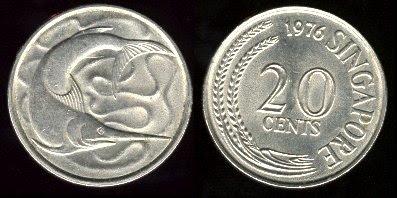Singapore km4 20 Cents (1967-1985)
