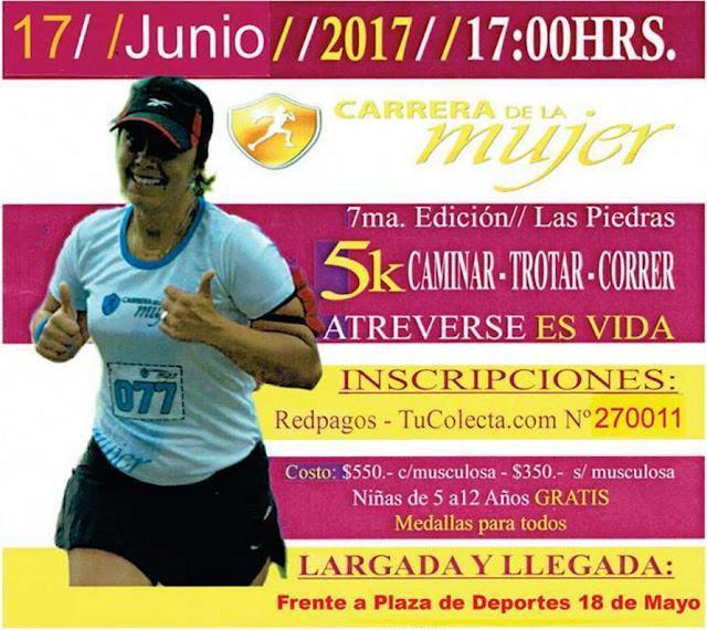 5k Carrera de la mujer en Las Piedras (Canelones, 17/jun/2017)