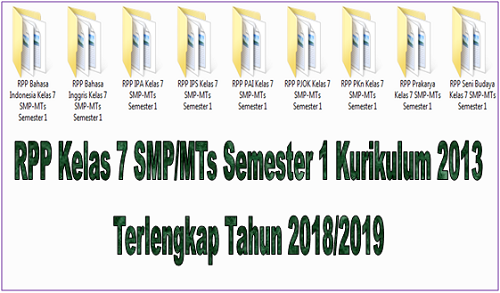 RPP Kelas 7 SMP/MTs Semester 1 Kurikulum 2013 Terlengkap Tahun 2018/2019