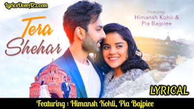 Tera Shehar Lyrics - Amaal Mallik