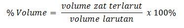 rumus menghitung persen volume