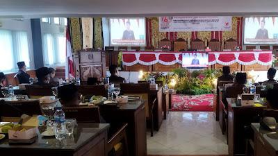 Kapolres 50 Kota Datangi Gedung DPRD, Dengar Pidato Kenegaraan Presiden Joko Widodo