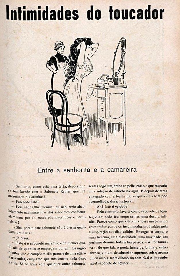 Propaganda antiga do Sabonete de Reuter sob forma de literatura em 1914
